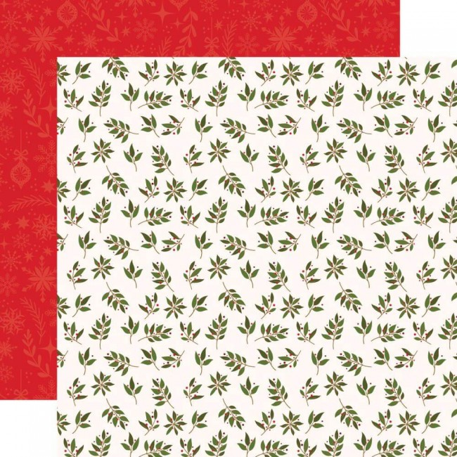 Papel Estampado Doble Cara 12x12 My Favorite Christmas Peace, Joy & Love