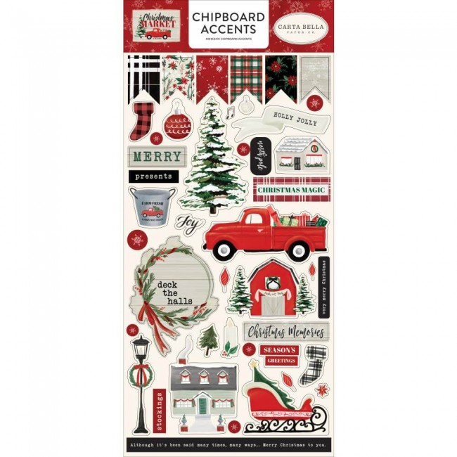 Chipboard 6x13 Christmas Market Accents
