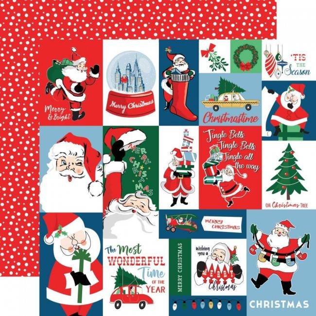 Papel Estampado Doble Cara 12x12 Merry Christmas Christmas Squares