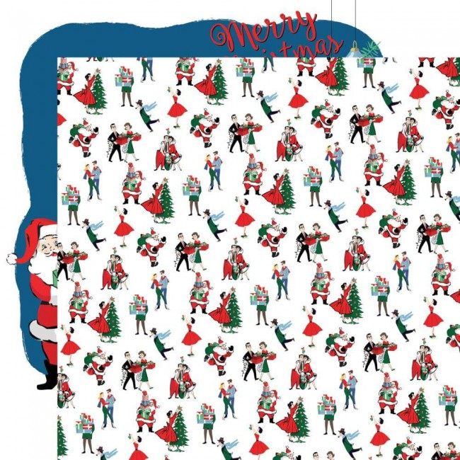 Papel Estampado Doble Cara 12x12 Merry Christmas Christmas Prep