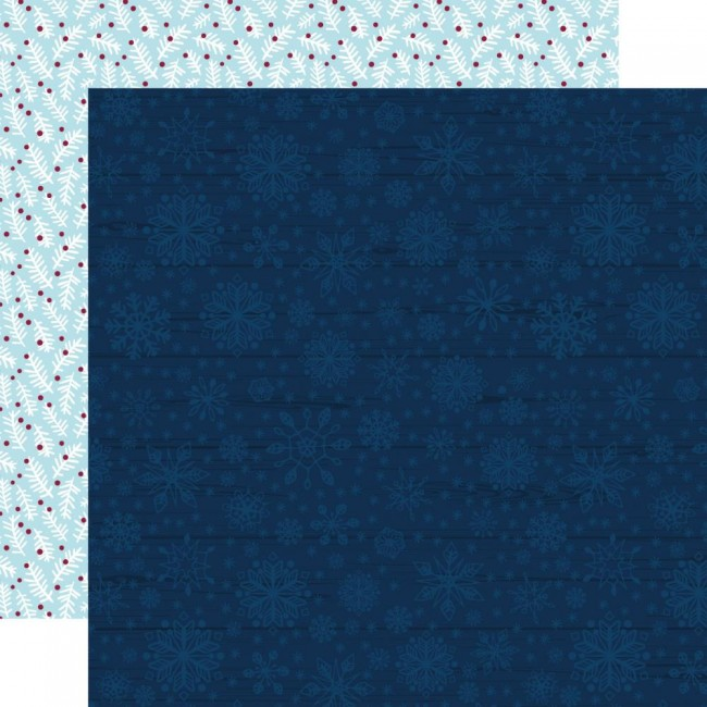Papel Estampado Doble Cara 12x12 My Favorite Winter Blue Winter