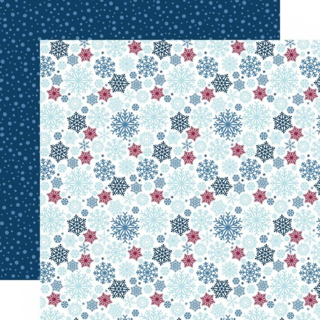Papel Estampado Doble Cara 12x12 My Favorite Winter Snow Much Fun