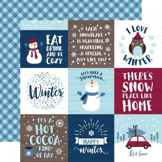 "Papel Estampado Doble Cara 12x12 My Favorite Winter 4""X4"" Journaling Cards"