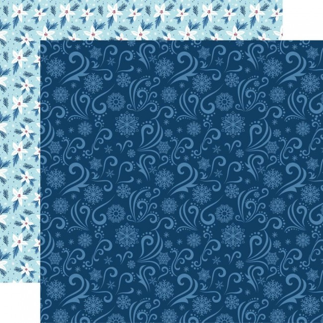 Papel Estampado Doble Cara 12x12 My Favorite Winter Winter Chill