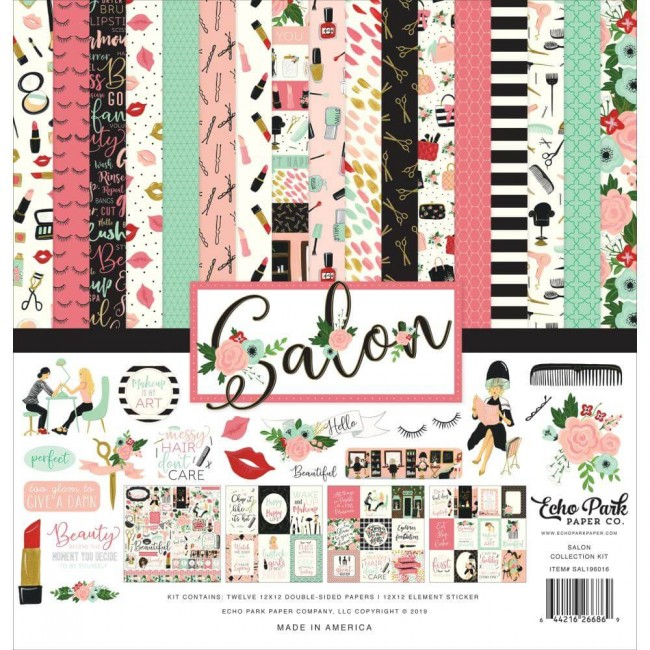 Kit Papeles Estampados 12x12 Salon