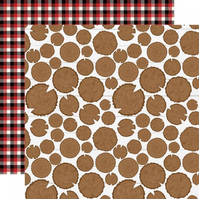 Papel Estampado Doble Cara 12x12 Little Lumberjack Be Brave