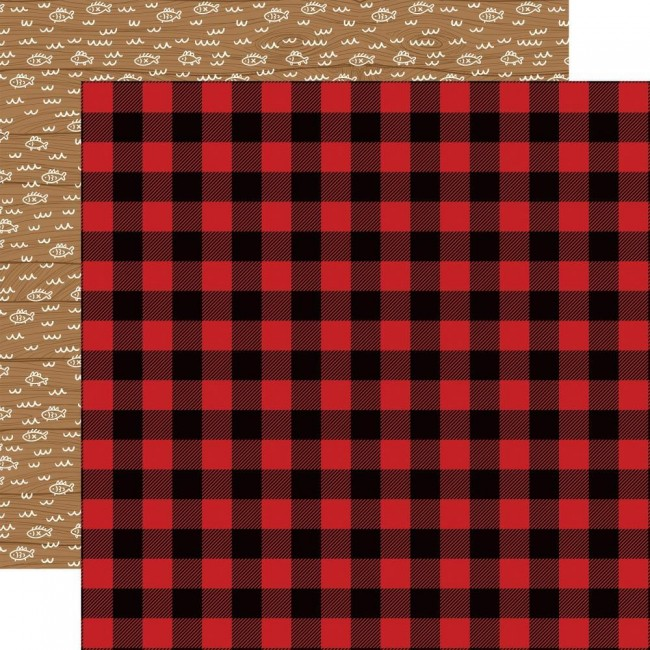 Papel Estampado Doble Cara 12x12 Little Lumberjack Buffalo Plaid