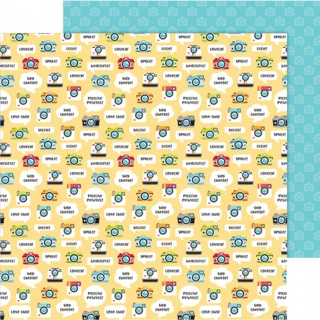 Papel Estampado Doble Cara 12x12 I Heart Travel Picture This