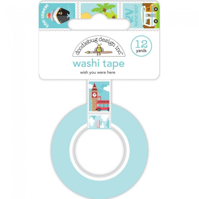 Washi Tape I Heart Travel Wish You Were Here