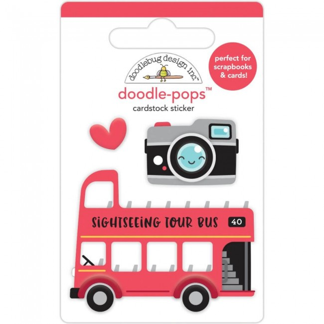 Pegatinas 3D I Heart Travel Double Decker