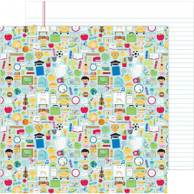 Papel Estampado Doble Cara 12x12 School Days School Days