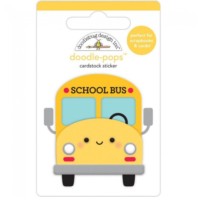 Pegatinas 3D School Days School Bus