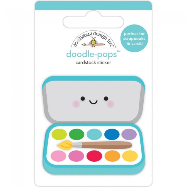 Pegatinas 3D School Days Paint Box