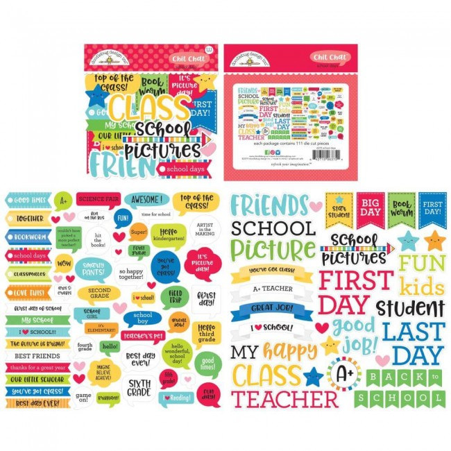 Die Cuts School Days Chit-Chat