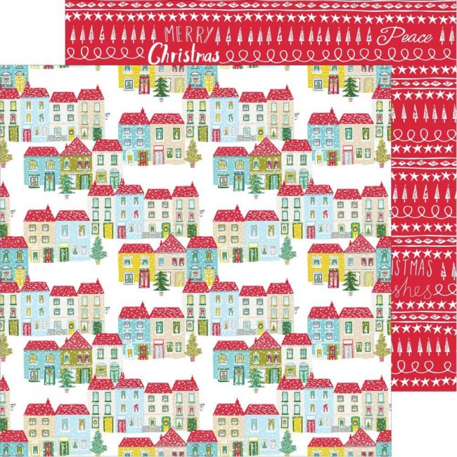 Papel Estampado Doble Cara 12x12 Home For The Holidays Home For The Holidays