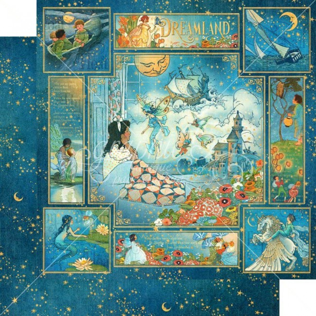 Papel Estampado Doble Cara 12x12 Dreamland Dreamland