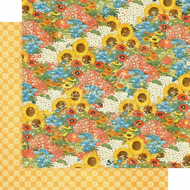 Papel Estampado Doble Cara 12x12 Dreamland Blossom Bright