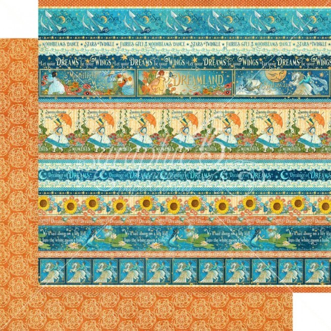 Papel Estampado Doble Cara 12x12 Dreamland Magical Moments