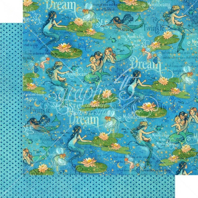 Papel Estampado Doble Cara 12x12 Dreamland Moonbeam Dance