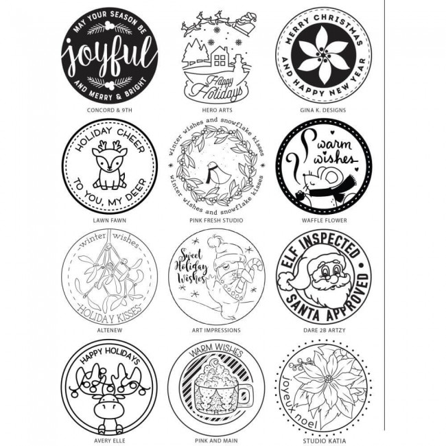 Sello Acrílico 6x8 Stamping Village Holiday Seals Collection