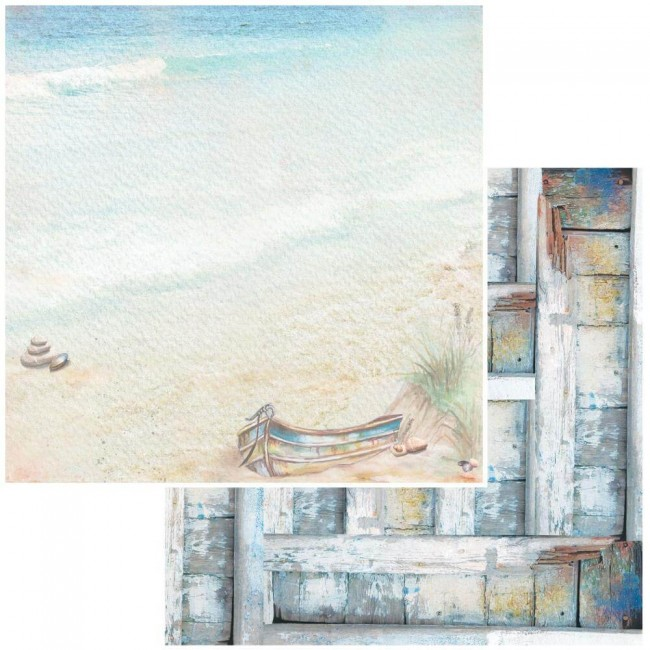 Papel Estampado Doble Cara 12x12 Seaside Sand Dunes