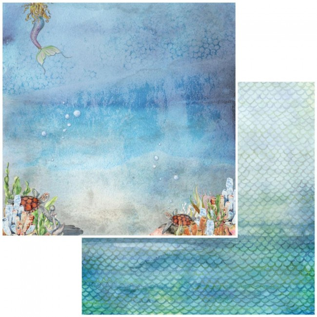 Papel Estampado Doble Cara 12x12 Shipwreck Atlantis