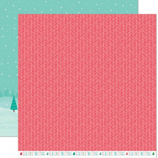 Papel Estampado Doble Cara 12x12 Snow Day Remix Snowboots Remix