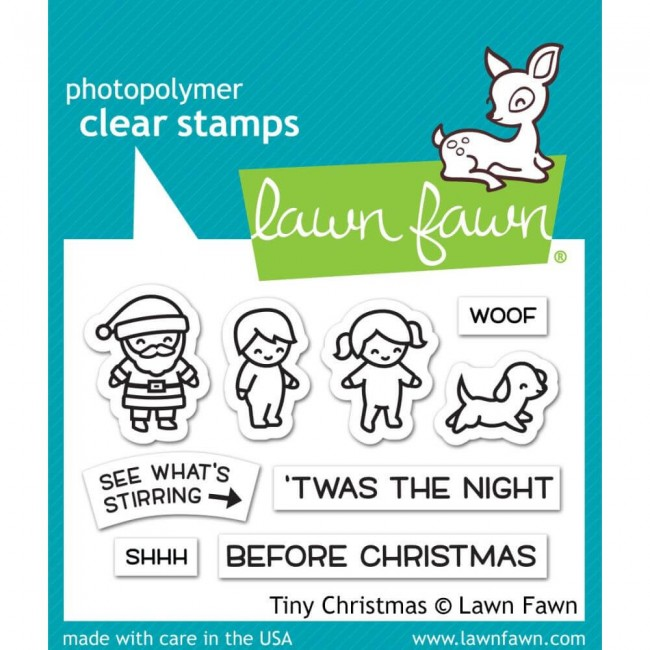 Sello Acrílico 2x3 Lawn Fawn Tiny Christmas