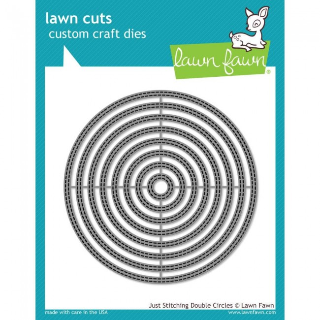 Troquel Lawn Cuts Just Stitching Double Circles