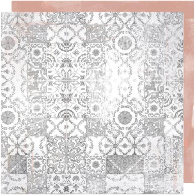 Papel Estampado Doble Cara 12x12 Honey & Spice Terraza