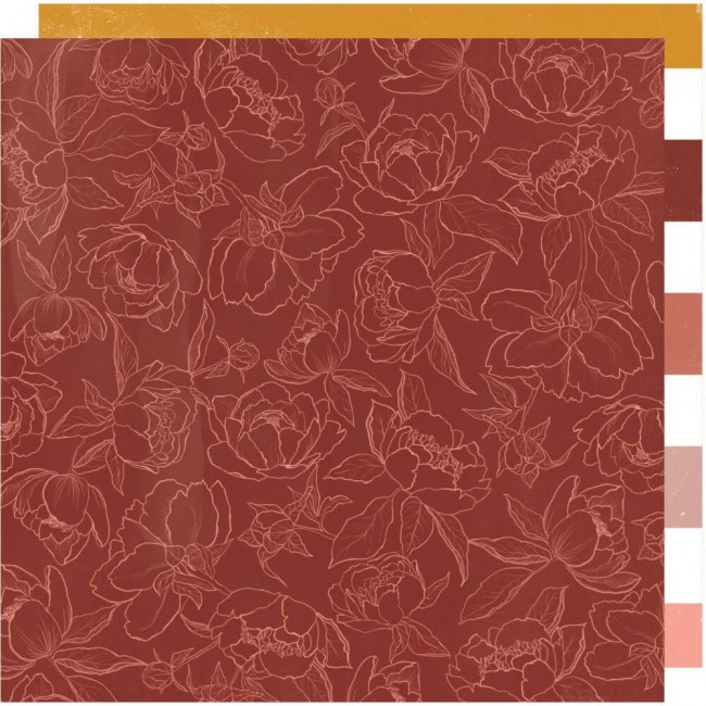 Papel Estampado Doble Cara 12x12 Honey & Spice Cider House