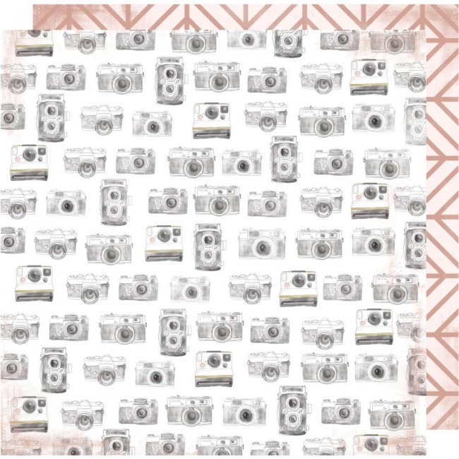 Papel Estampado Doble Cara 12x12 Honey & Spice Captured