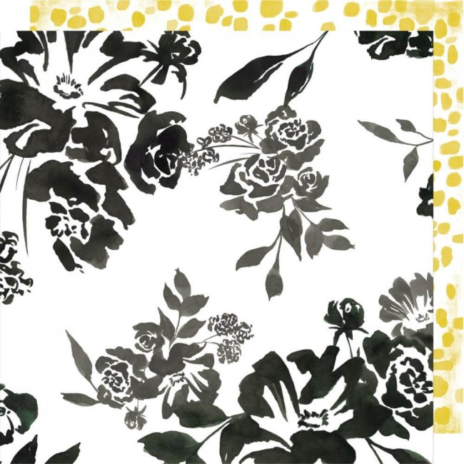 Papel Estampado Doble Cara 12x12 Honey & Spice Flourish