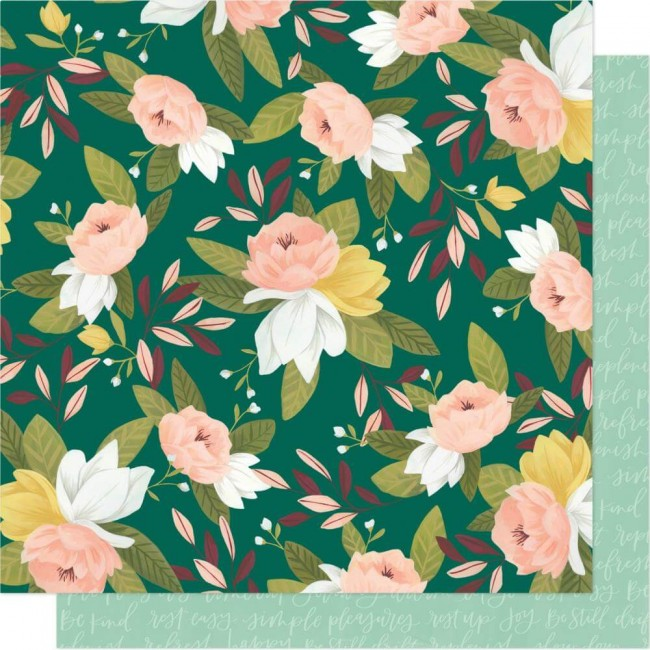 Papel Estampado Doble Cara 12x12 Willow One Canoe Two Ambrose Blooms