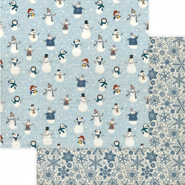 Papel Estampado Doble Cara 12x12 For The Love Of Winter Snow Much Fun