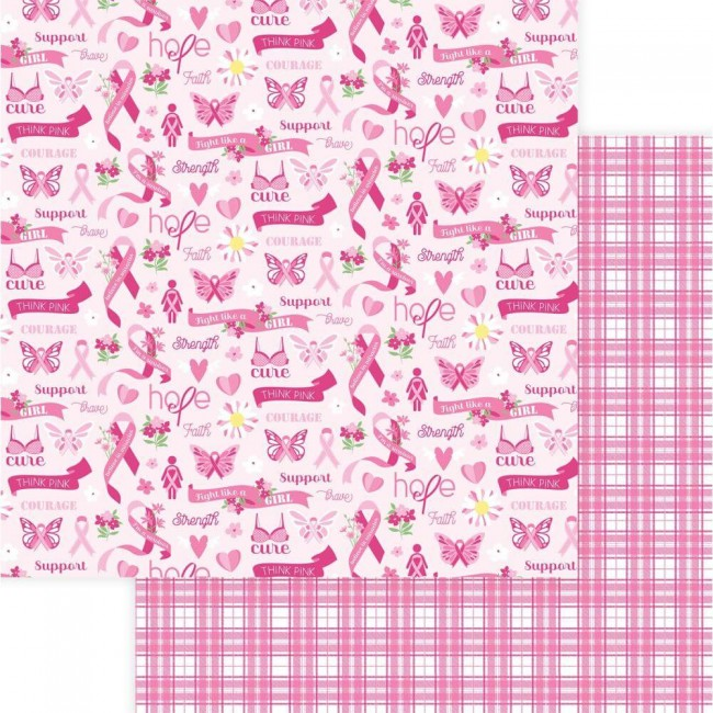 Papel Estampado Doble Cara 12x12 Operation Save 2nd Base Courage