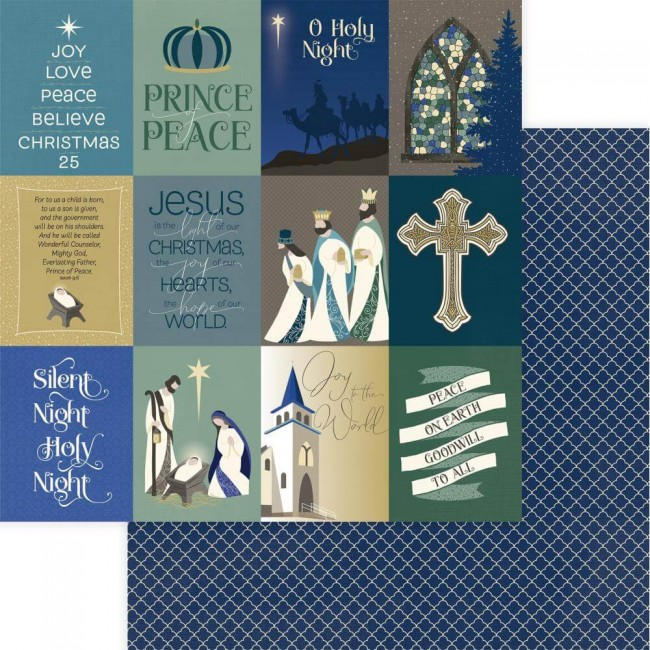 Papel Estampado Doble Cara 12x12 One Night In Bethlehem Silent Night