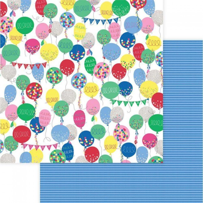 Papel Estampado Doble Cara 12x12 Confetti Hooray