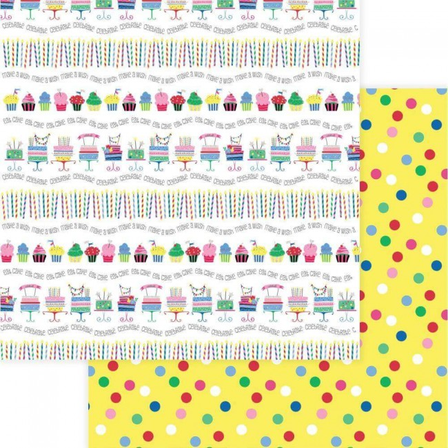 Papel Estampado Doble Cara 12x12 Confetti Let's Party