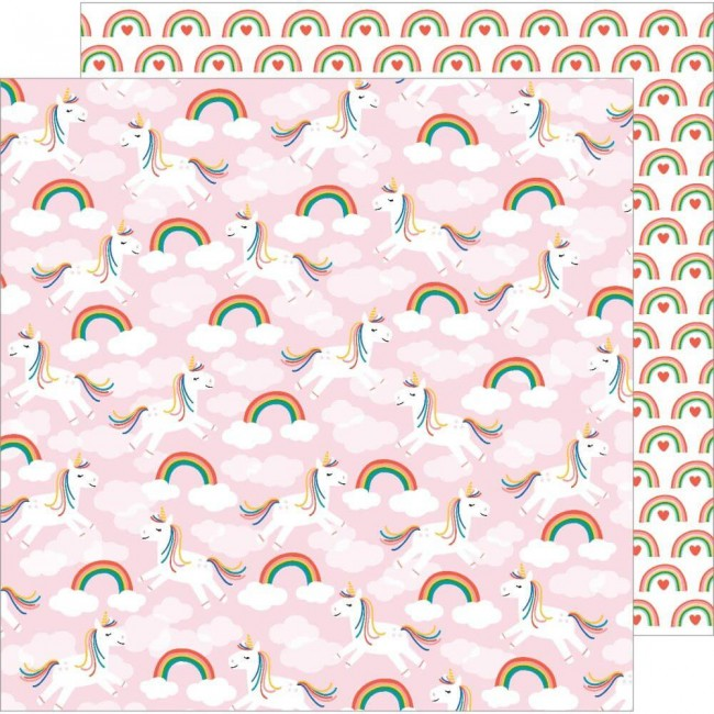 Papel Estampado Doble Cara 12x12 Happy Cake Day Make A Wish