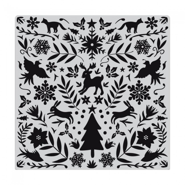Sello de Caucho Nordic Holiday Bold Prints