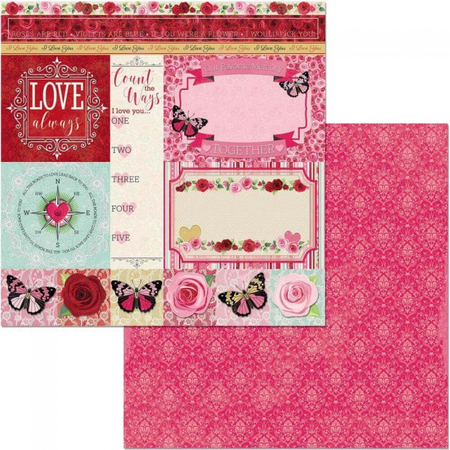 Papel Estampado Doble Cara 12x12 Count The Ways Count The Ways