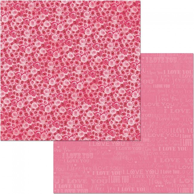Papel Estampado Doble Cara 12x12 Count The Ways Bouquet