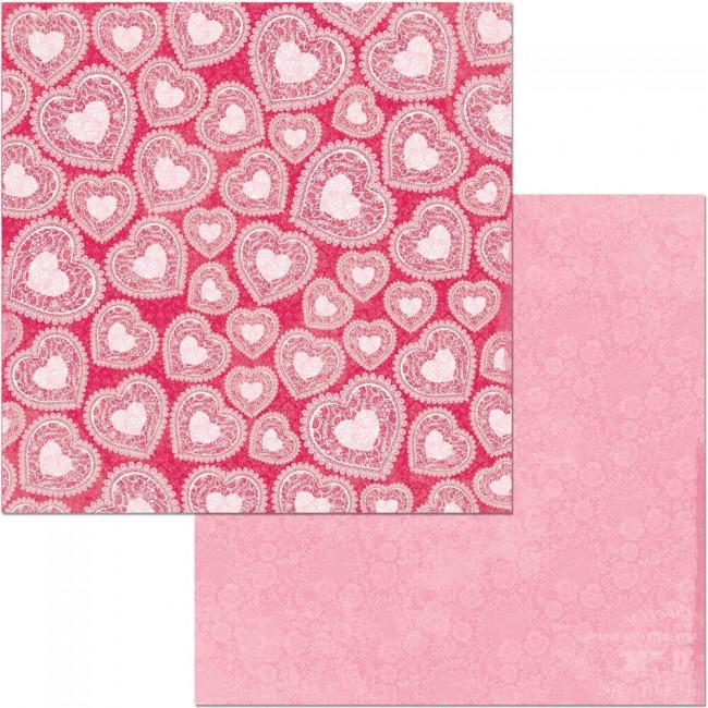 Papel Estampado Doble Cara 12x12 Count The Ways Valentine
