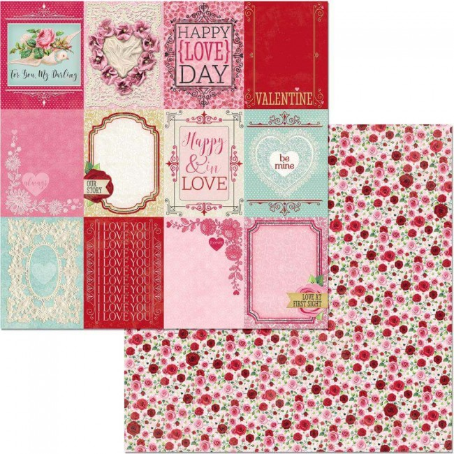 Papel Estampado Doble Cara 12x12 Count The Ways Be Mine