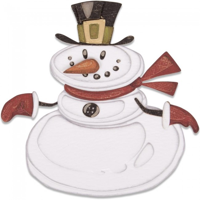 Troquel Thinlits Mr. Snowman Colorize Tim Holtz