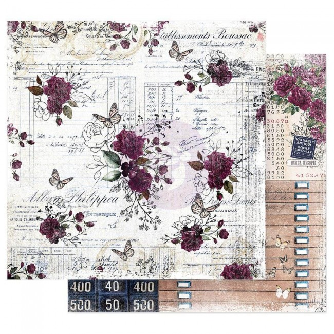 Papel Estampado Doble Cara 12x12 Darcelle Just Wing It