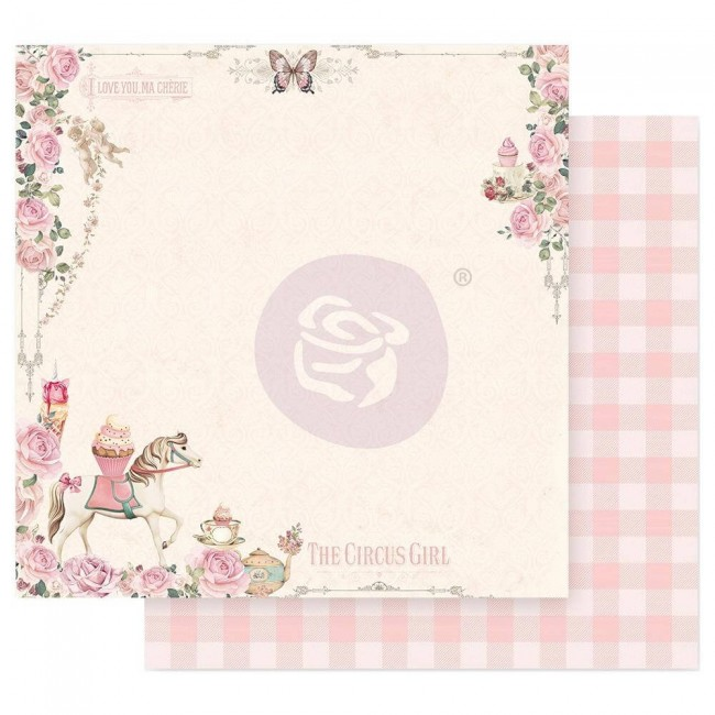 Papel Estampado Doble Cara 12x12 Dulce Let's Go To The Circus