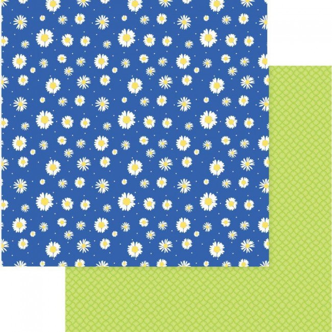 Papel Estampado Doble Cara 12x12 Best Friends Daisies