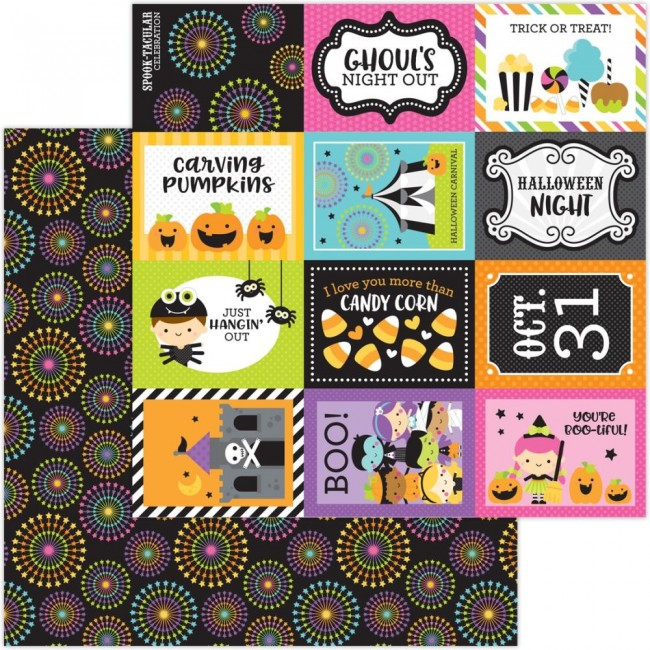 Papel Estampado Doble Cara 12x12 Candy Carnival Spook-Tacular